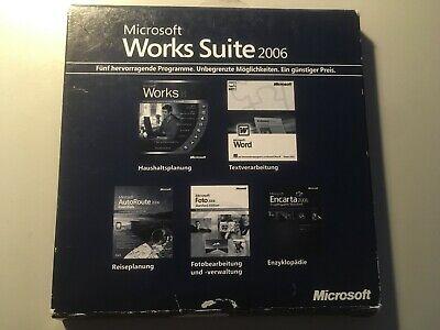 TOPPREIS - 5xCDs Microsoft Works Suite 2006, Deutsch, Word 2002,Foto 2006,Works8