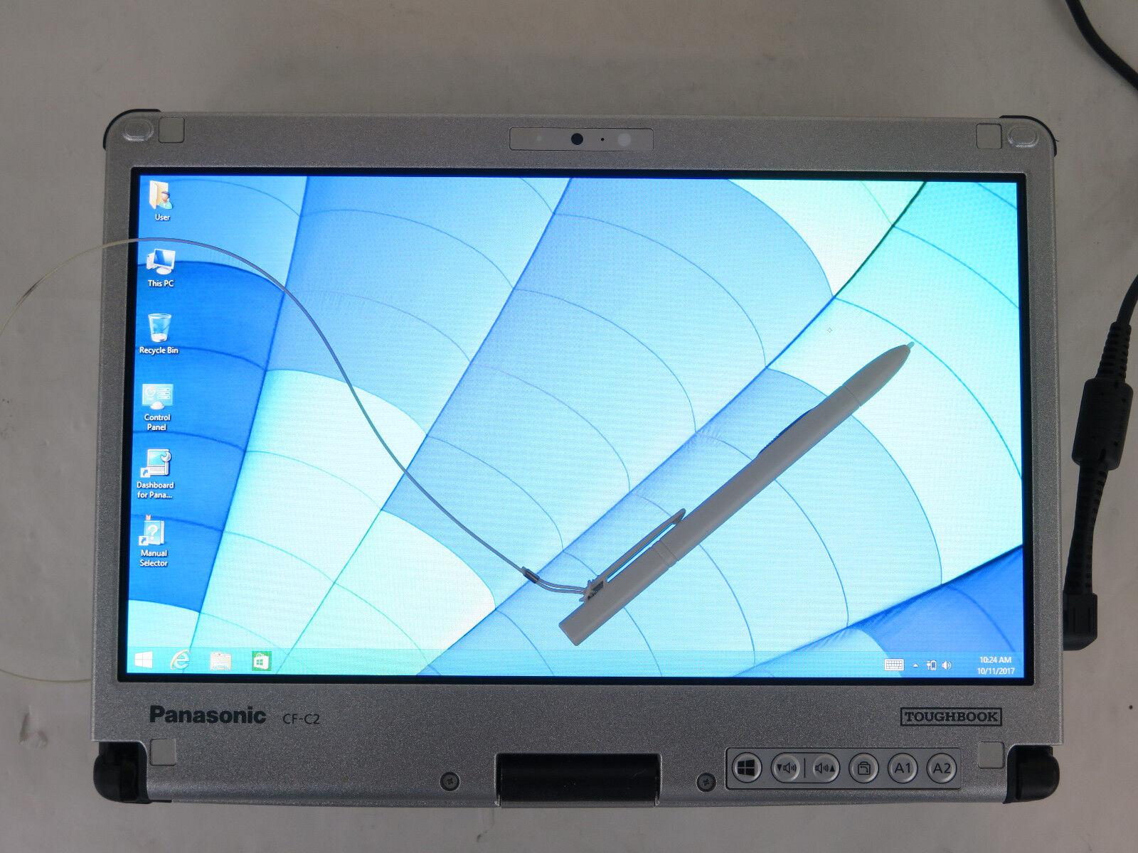 "Panasonic Toughbook CF-C2 CF-C2CC-03CM 12.5"" 1.9GHz CORE i5 4300U 4GB 128GB SSD"