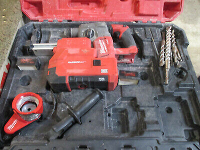 Milwaukee M18 18v Cordless Rotary Hammer Kit - 2712-22de W16 Bits
