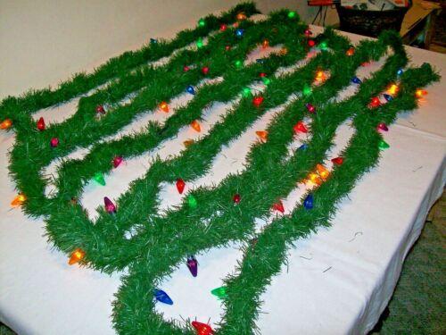 "Lighted Evergreen Christmas Garland-36"""