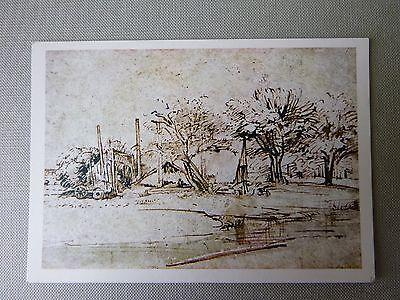 Art Card, Landscape with Cottage & Trees, Rembrandt, 1600s