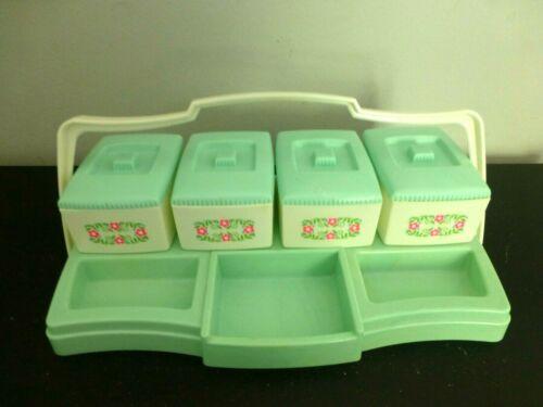 Vintage Nursery Storage Caddy Clarolyte/Alan Jay, Green, Plastic, W/Tray