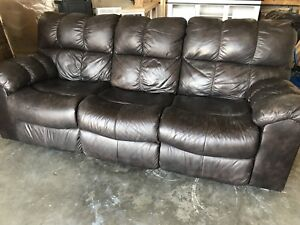 3 seater reclining leather couch