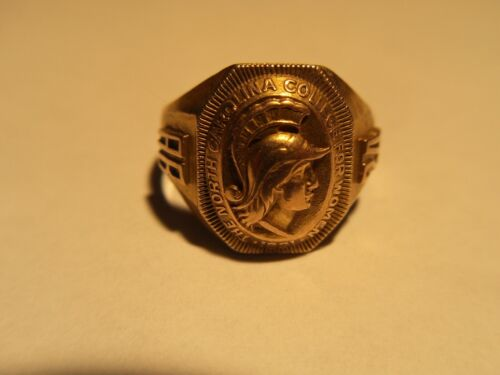 1924 VTG 10k Gold Class Ring North Carolina College For Women 4 grms SZ 5.75