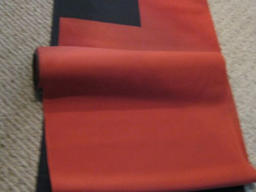JAPANESE RED AND BLACK 4-WAY REVERSIBLE SILK KIMONO FABRIC BOLT 17.5 yards