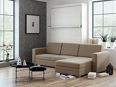 Schrankbett Wandbett Mit Sofa Ecke Leggio Linea Tondo Lw 120 X 200 Cm Whitewood