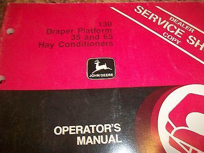 John Deere Operators Manual 130 Draper Platform 35 And 65 Hay Conditioners