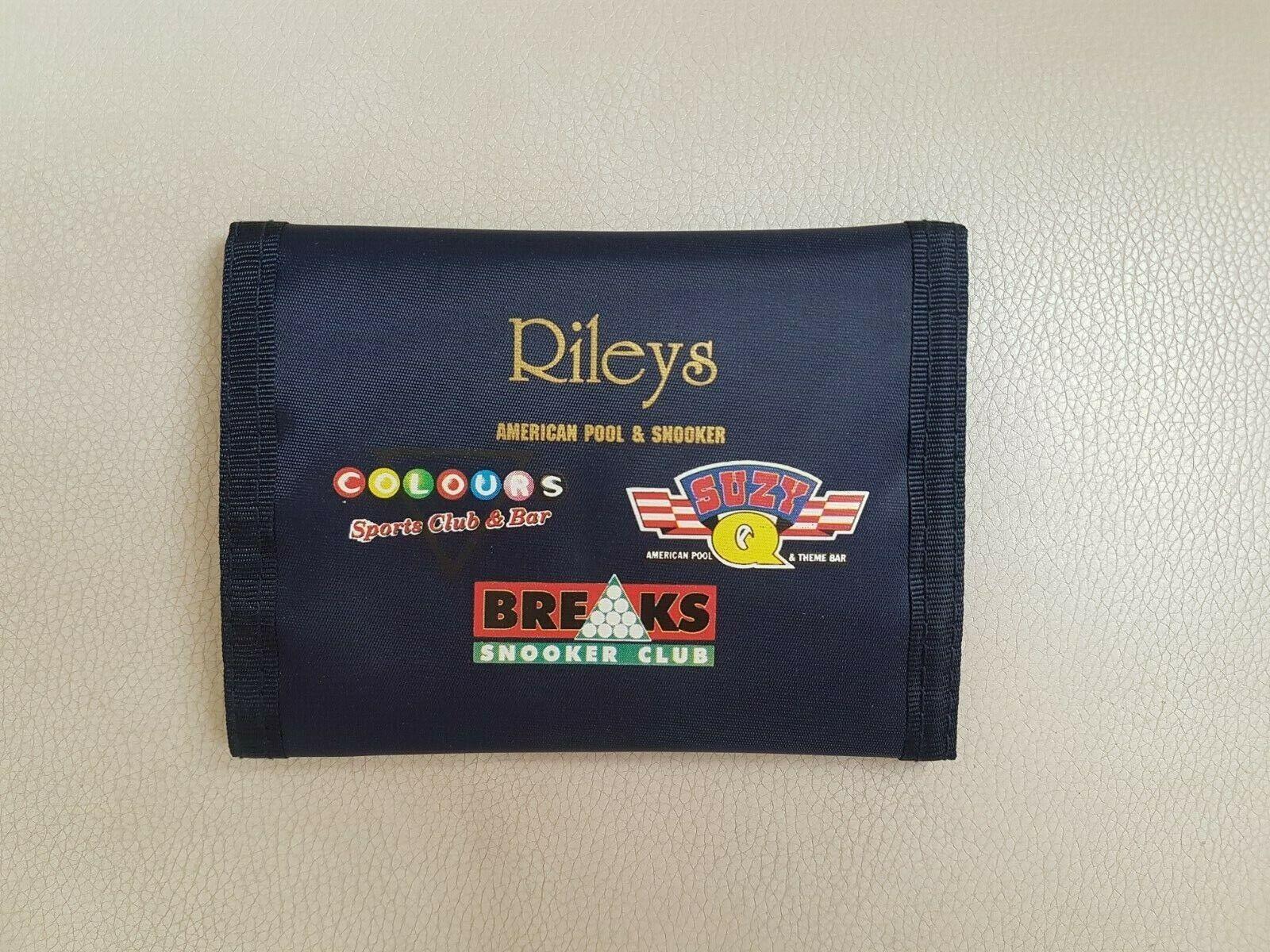 Rileys American Pool and Snooker Club Branded Wallet Unused. Dark Blue.