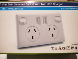 10Amp double power point with USB Charger Glenroy Moreland Area Preview
