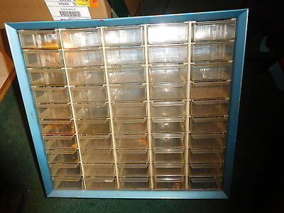 Vintage Akro-mils Metal Cabinet Parts Organizer Storage Unit Large 50 Drawer