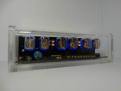 Unique retro style 6 x IN-12 Nixie Tubes Clock acrylic case & backlight & alarm