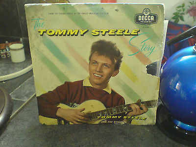 "TOMMY STEELE - DECCA LF1788 - 10"" LP - MAY 1957 - 'TOMMY STEELE STORY'"