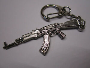Ak47 Metal Gun Rifle Keychain Army Military Keyring Jewelry Pendant GIFT