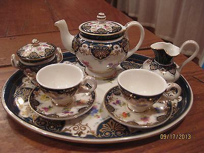 The Vanderbilt Miniature Tea Set by Burton & Burton Brand New