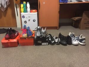 Lots of new/slightly used football cleats for cheap