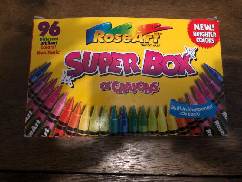 1996 Roseart Super Box Of Crayons