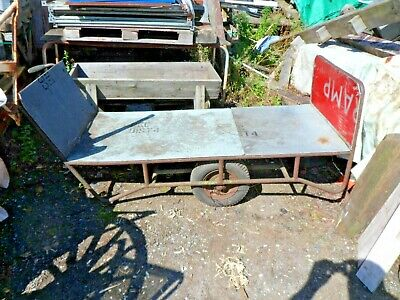 VINTAGE INDUSTRIAL TROLLEY CART IDEAL SEAT PROJECT