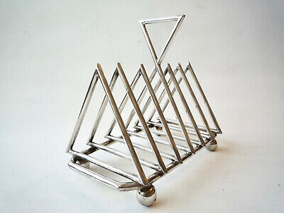 ANTIQUE CHRISTOPHER DRESSER DESIGN SILVER PLATE TOAST RACK ARTS CRAFTS aesthetic