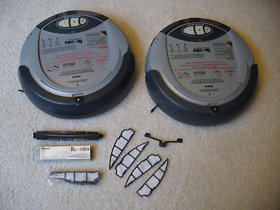 2 Roomba 1st Generation iRobot 2002 Robotic Vacuum and parts lot