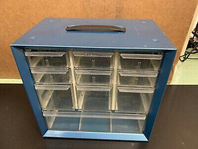 Vintage Akro Mils Metal 10 Drawer Cabinet Organizer Storage Box Bins Parts