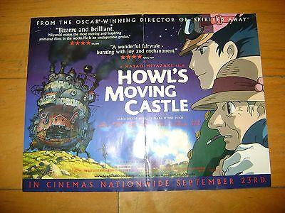 HOWL'S MOVING CASTLE (2004) Hayao Miyazaki UK Mini Cinema Film Poster GHIBLI