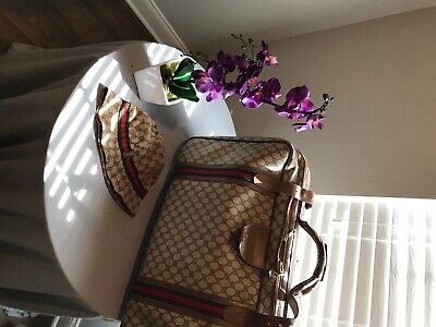 Authentic Vintage Gucci Luggage Brown