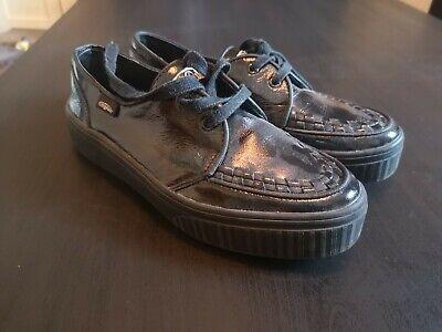 DEMONIA V-CRE662//BVS Women/'s Black Faux Suede Chukka Creepers Goth Punk Shoes