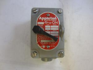 APPLETON EDSC175-F1 FACTORY SEALED  EXPLOSION PROOF 1 POLE 20 AMP SWITCH