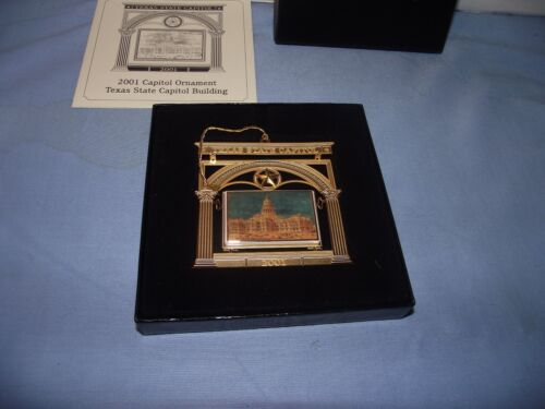 State of Texas Capitol Building Ornament Christmas Tree Box & Paper