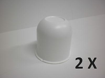 2 - White Hub Center Cap 3.125 Trailer Camper Travel Truck Cover Rim Hubcap
