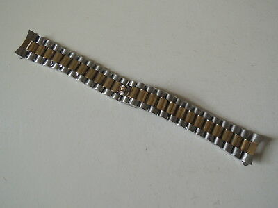 Original 20mm Bulova President 2 Tone & Stainless steel Watch Band