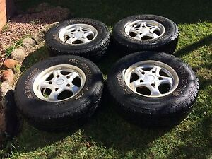 """NANKANG 16"""" A/T tyres and rims - good tread Thornton Maitland Area Preview"""