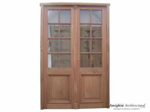 DOUBLE FRENCH DOOR CLEAR GLASSES
