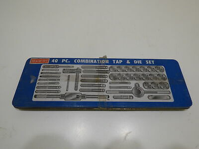 40 Piece Combination Tap And Die Set Nc Nf. Npt