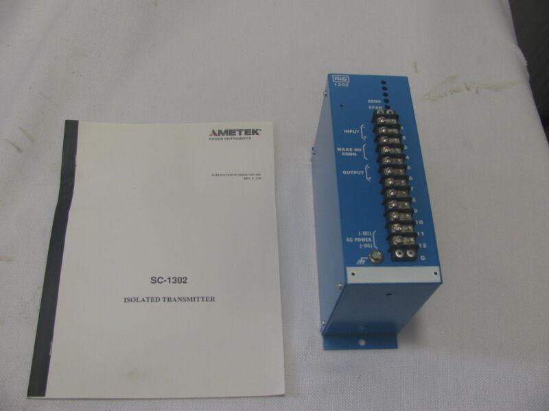 AMETEK SC1302X ISOLATED TRANSMITTER