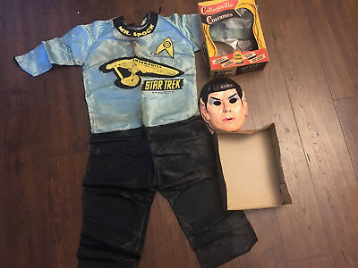 VINTAGE 1ST MR SPOCK HALLOWEEN COSTUME IN BOX STAR TREK COLLEGEVILLE COSTUMES - Mr Spock Halloween Costume