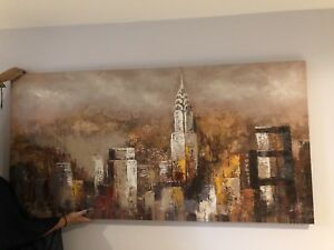 AMAZING RECTANGLE NYC OIL PANTING