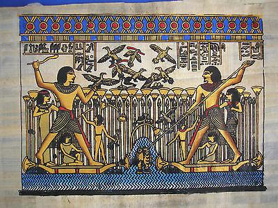 Malerei auf Papyrus mit reicher Goldmalerei, antike Kriegerszene