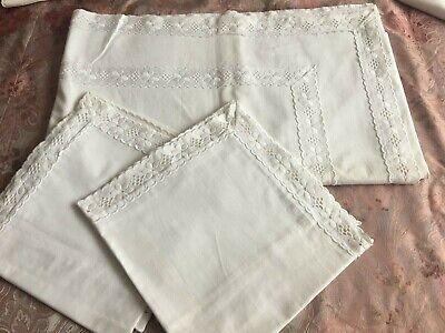 1 drap de lit coton, 220x 260cm + 2 taies 80x50 cm