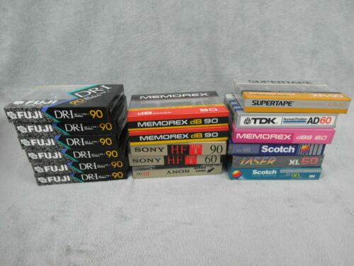 Lot 17 Blank Cassette Tapes FUJI DR-I 90 Sony Realistic Supertape Sealed NEW