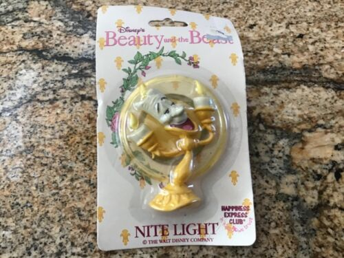 VINTAGE DISNEY BEAUTY AND THE BEAST NIGHT LIGHT -Lumiere MIP