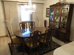 French Provincial Dining room set and China Cabinet