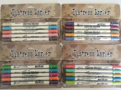 Tim Holtz Distress Marker Dual Tip Pen Set Fine Point & Brush Ends NEW YOU PICK