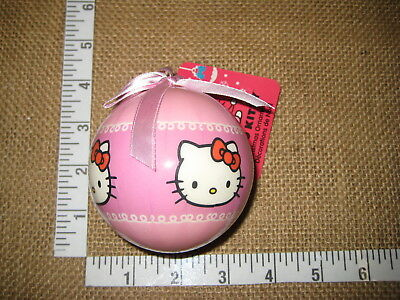 Pink Decoupage Hello Kitty 3 Inch Ball With Pink Bow Christmas Ornament Christmas Bow Ball Ornament