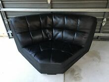 3 piece black leather imitation lounge set Banksia Grove Wanneroo Area Preview