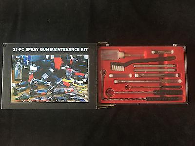 Profesional Pistola Pintura Kit de Limpieza 21-tlg