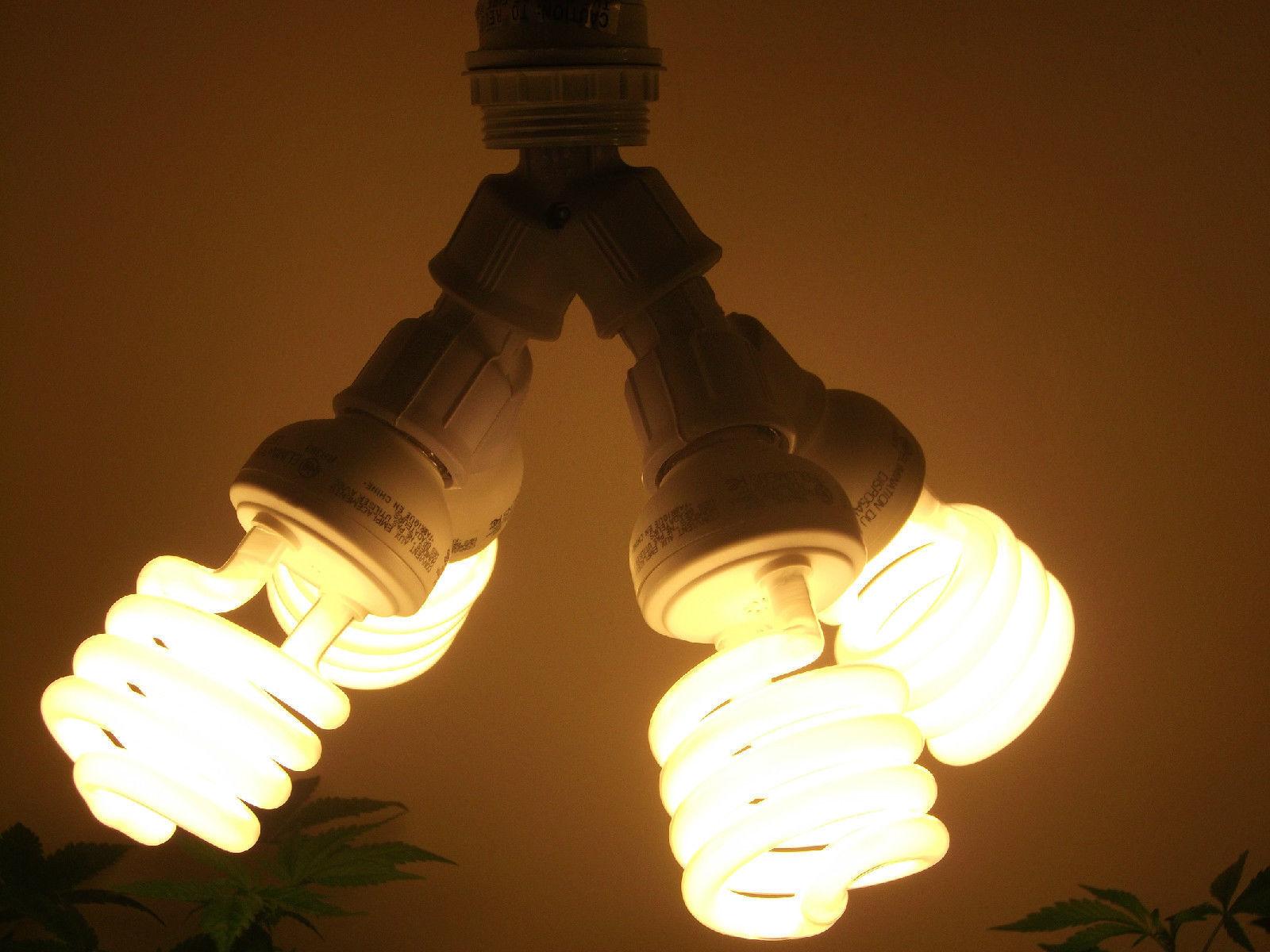 400 WATT CFL ENERGY SMART GROW LIGHT KIT/ SET- FOR VEG AND CLONES- NO CORD