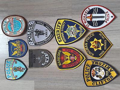 10 verschiedene Polizei Ärmelabzeichen  USA  (ARIZONA) 2