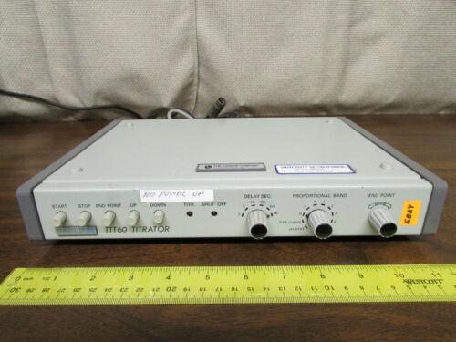 Radiometer Copenhagen TTT-60 Titrator Does Not Power Up As-Is
