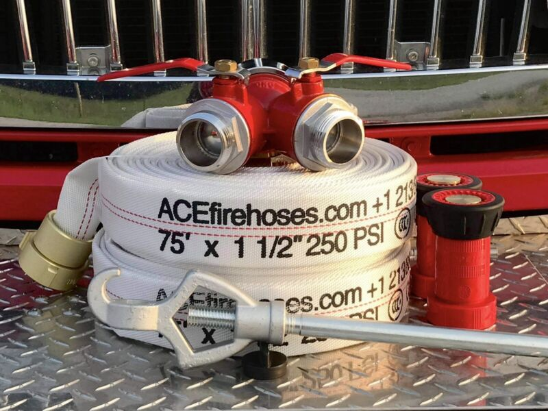 Fire Hose 75 Ft 1 1/2 Inch Light Weight Great For Home Defence New